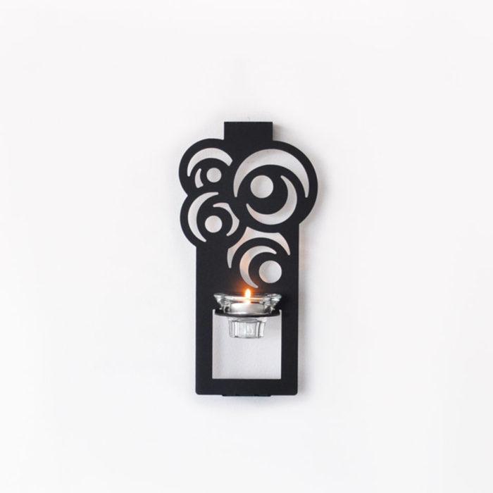 Lampett för värmeljus i aluminium.