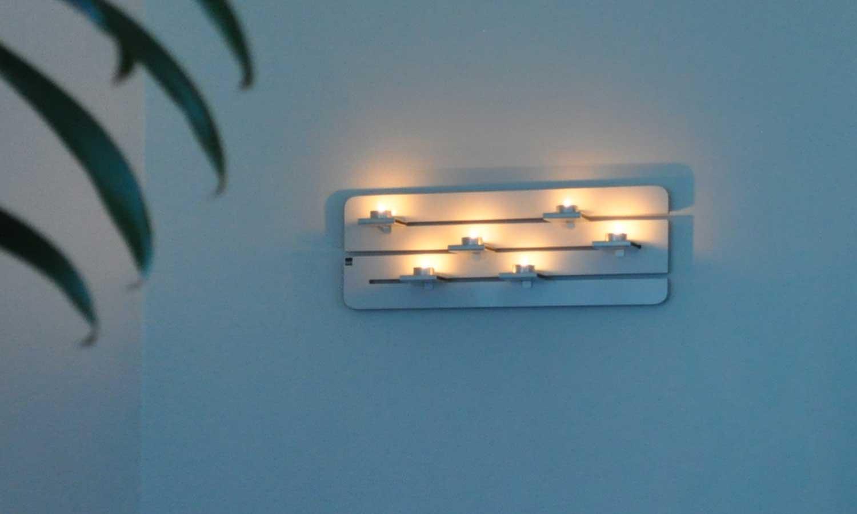 Ljusramp för sex värmeljus
