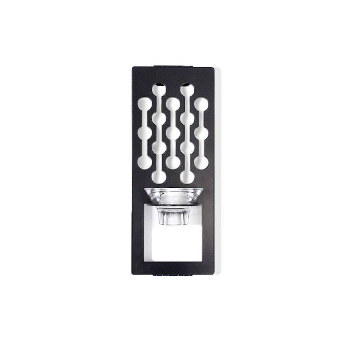 Dagg, svart ljushållare för vägg