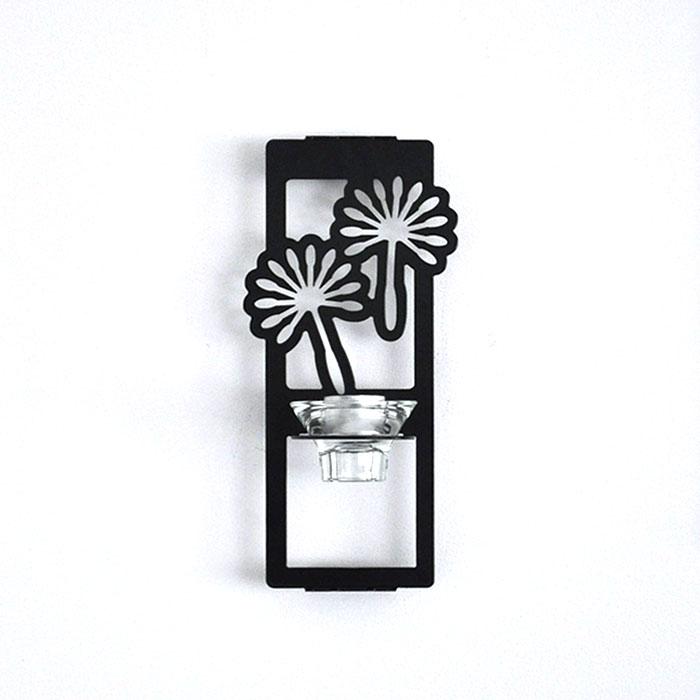 Maskrosfrö, ljushållare för vägg