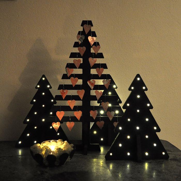 Julgran med LED-ljus