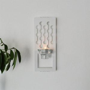 Dagg, vit ljushållare för vägg